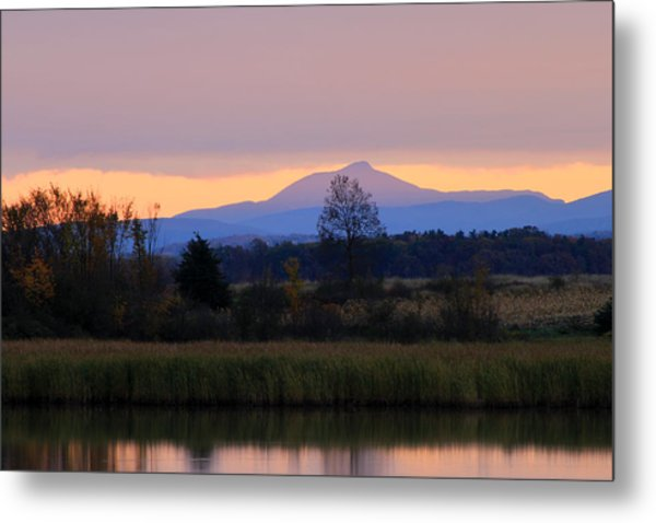 Camel's Hump Mountain From Dead Creek Metal Print