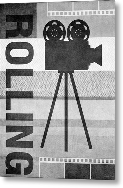 Cameras Rolling- Art By Linda Woods Metal Print