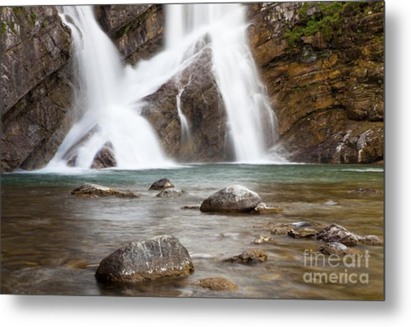 Cameron Falls In Waterton Lakes National Park Metal Print