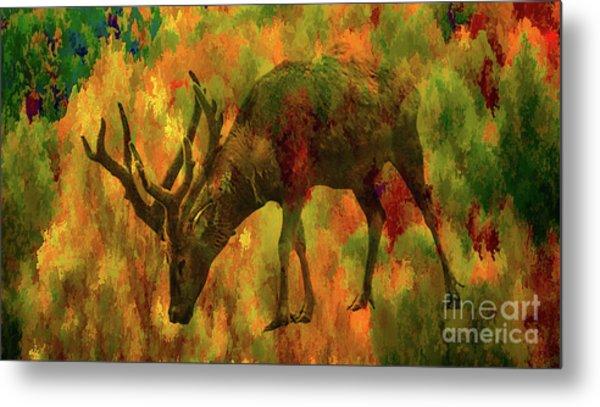 Camouflage Deer Metal Print
