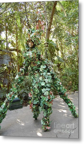 Camouflaged Tree Street Performer Animal Kingdom Walt Disney World Prints Metal Print