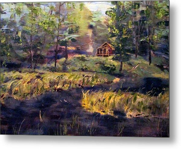 Camp At Efner Lake Brook Metal Print