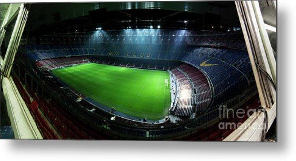 Camp Nou At Night Metal Print