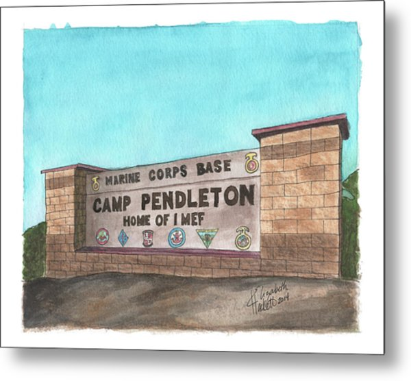 Camp Pendleton Welcome Metal Print