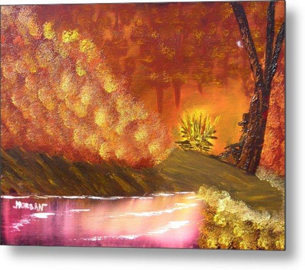 Campfire Metal Print by Sheldon Morgan