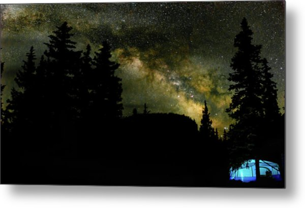 Camping Under The Milky Way 2 Metal Print