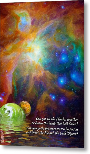 Can You Tie The Pliades Together? Metal Print