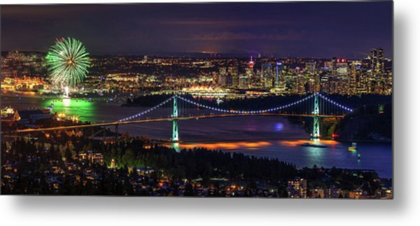 Metal Print featuring the photograph Canada Day Celebration In Vancouver City by Pierre Leclerc Photography