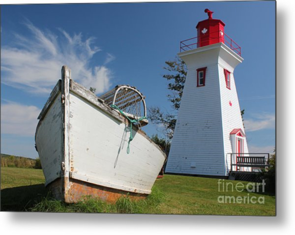 Canadian Maritimes Lighthouse Metal Print