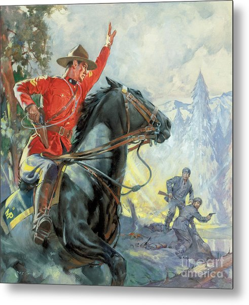 Canadian Mounties Metal Print