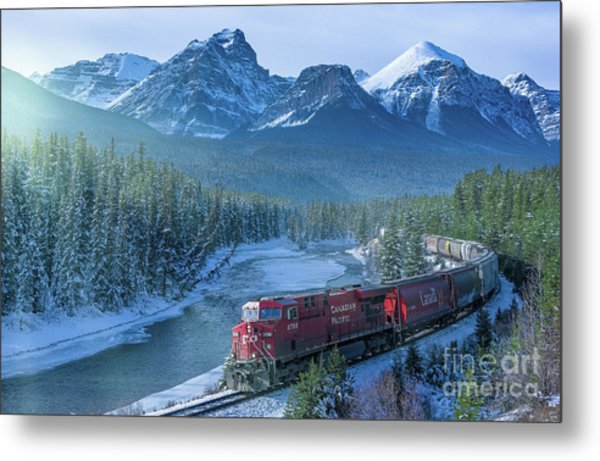 Canadian Pacific Railway Through The Rocky Mountains Metal Print