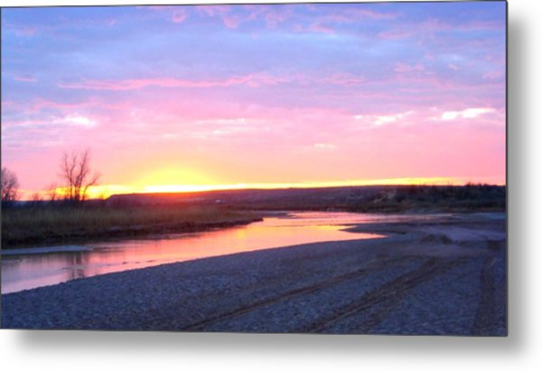 Canadian River Sunset Metal Print