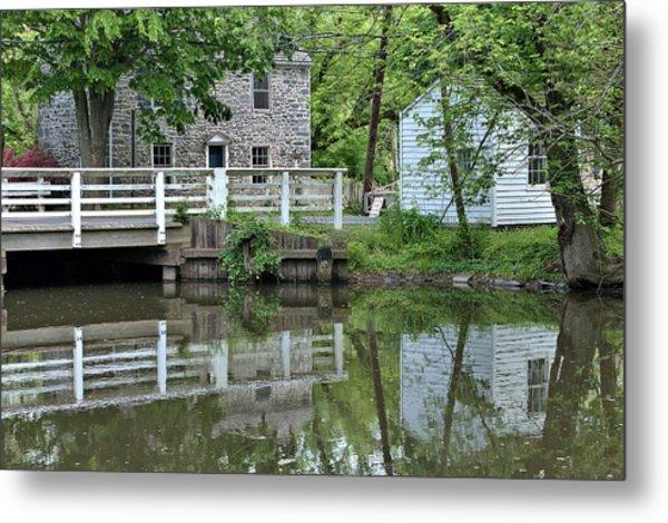 Canal At Griggstown Metal Print