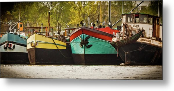 Canal Boats Metal Print