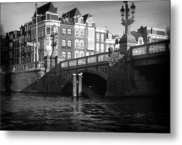 Metal Print featuring the photograph Canal Bridge by Scott Hovind