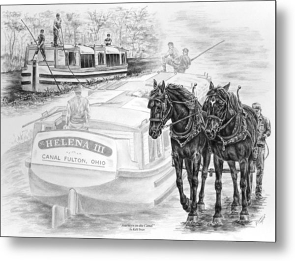 Canal Fulton Ohio Print - Journeys On The Canal Metal Print