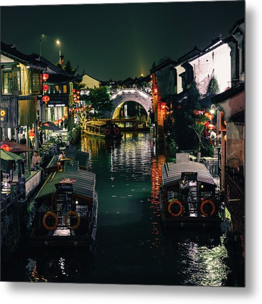 Canals Of Suzhou Metal Print