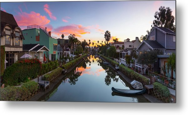 Canals Of Venice Beach Metal Print