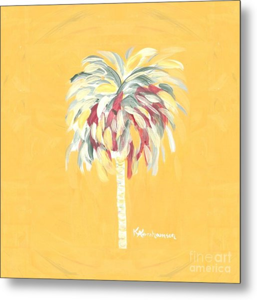Canary Palm Tree Metal Print