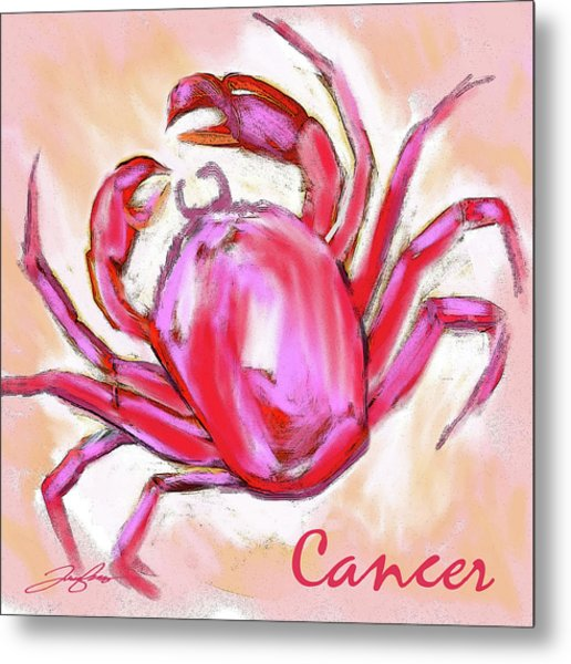 Cancer The Crab Metal Print