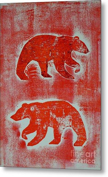Candadian Bears Two  Metal Print