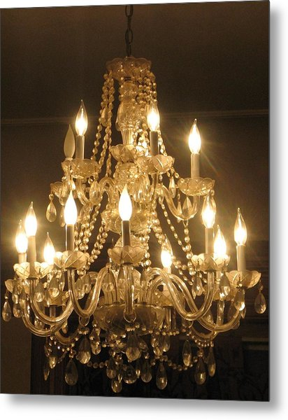 Candelabra Chandelier Metal Print by Hasani Blue