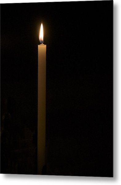 Candle Light Metal Print by Marion McCristall
