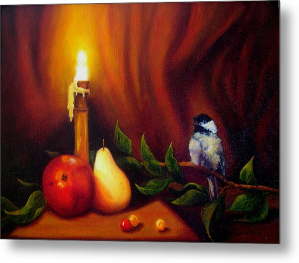 Candle Light Melody Metal Print by Valerie Aune