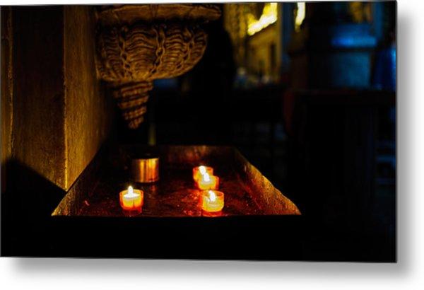Candle Oasis Metal Print