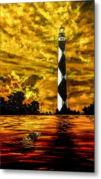 Candle On The Water Metal Print