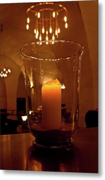 Candlelight Metal Print