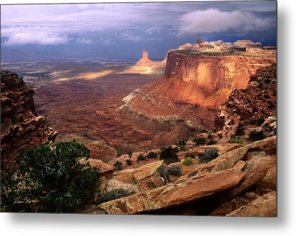 Candlestick Tower In Nature's Spotlight Metal Print