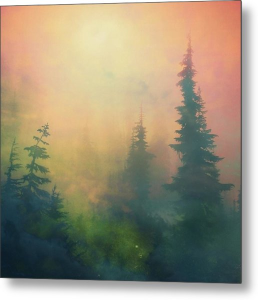 Candy Clouds On Goat Mountain Metal Print