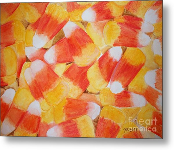 Candy Corn Metal Print