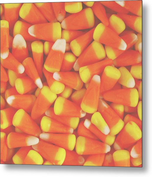 Candy Corn Square- By Linda Woods Metal Print