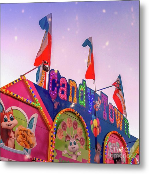 Metal Print featuring the photograph Candytown by Cindy Garber Iverson