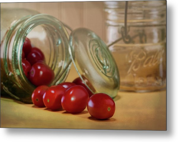 Canned Tomatoes - Kitchen Art Metal Print