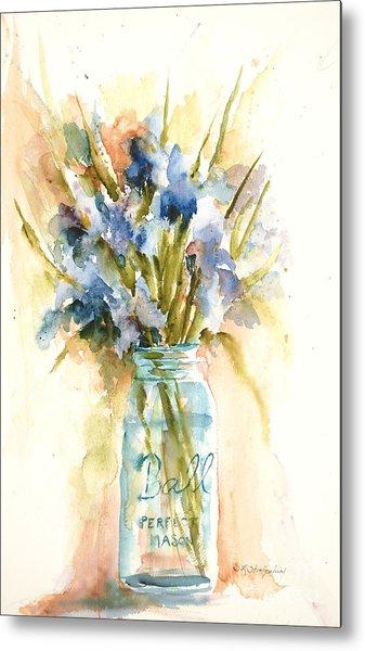 Canning Irises Metal Print