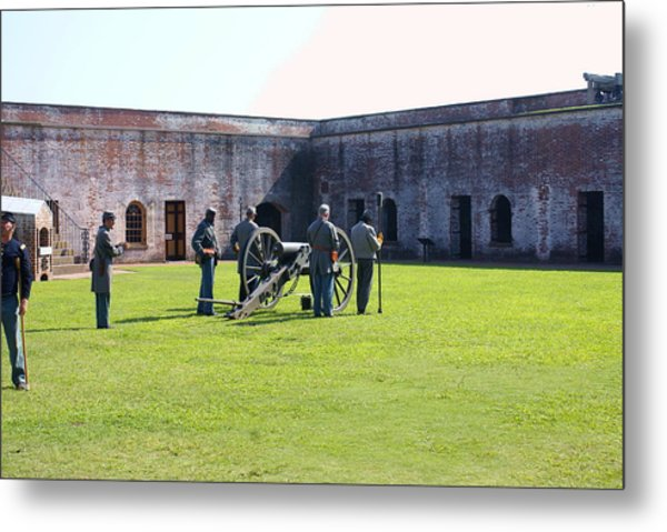 Cannon Excercise Metal Print by Rodger Whitney