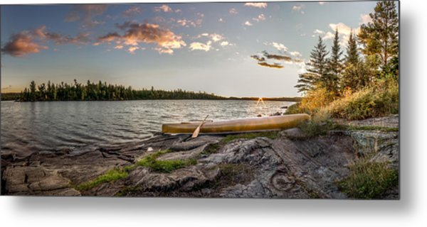 Metal Print featuring the photograph Canoe // Bwca, Minnesota  by Nicholas Parker
