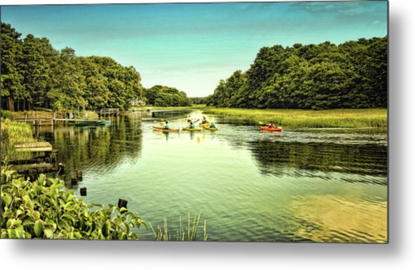 Canoeing Metal Print by Gina Cormier