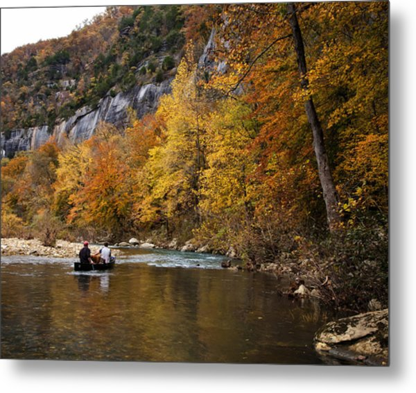 Canoeing The Buffalo River At Steel Creek Metal Print