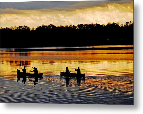 Canoes On The Potomac River Metal Print