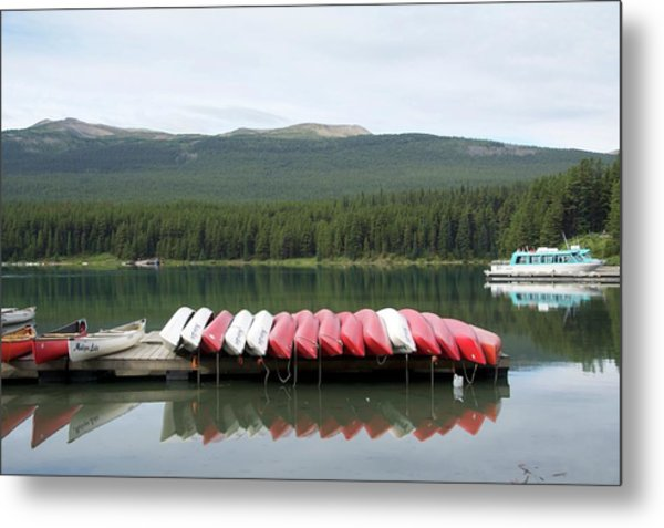 Metal Print featuring the photograph Canoes by Ralph Jones