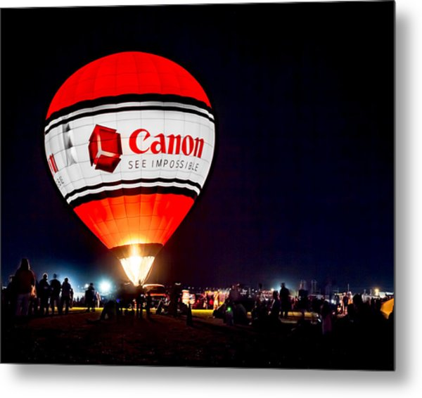 Canon - See Impossible - Hot Air Balloon Metal Print