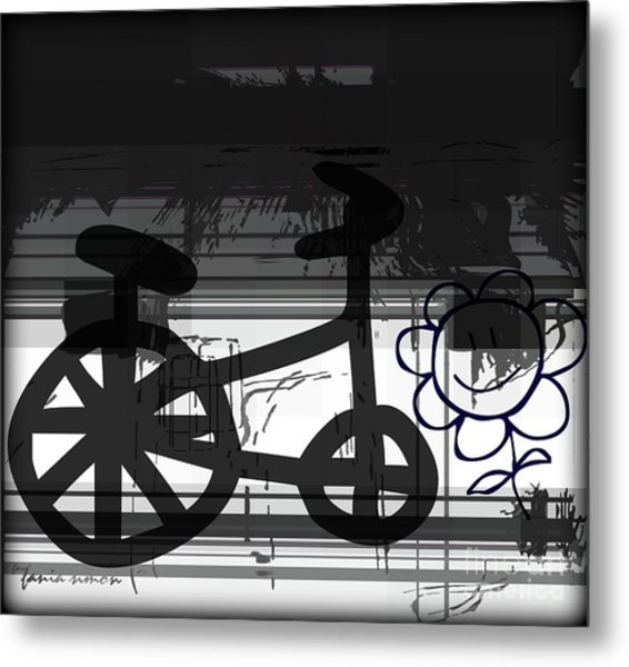 Can't Ride A Bike But I Can Fly Metal Print by Fania Simon