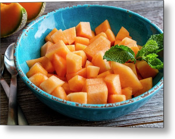 Cantaloupe For Breakfast Metal Print