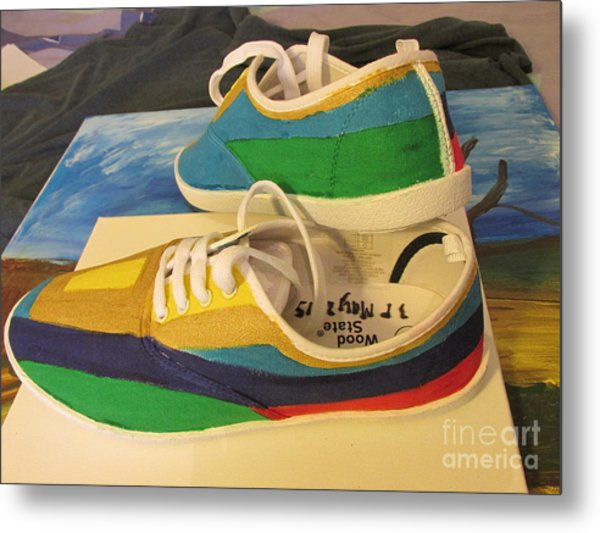 Canvas Shoe Art 003 Metal Print
