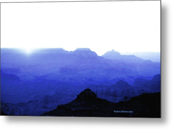 Canyon In Blue Metal Print