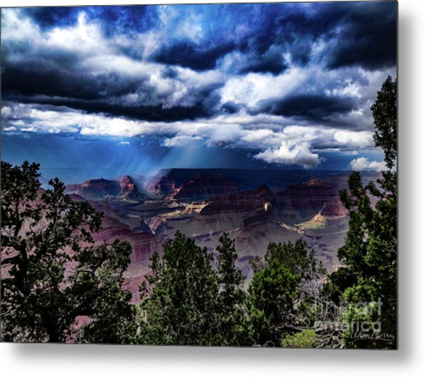 Canyon Rains Metal Print